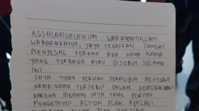 BREAKING NEWS:Jaksa Pinangki Tulis Surat Permohonan Maaf untuk Hatta Ali dan ST Burhanuddin