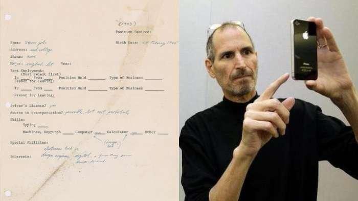Surat Lamaran Kerja Steve Jobs terjual dengan harga fantastis | The Sun