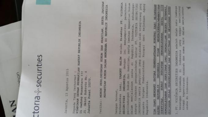 DPR: Penggeledahan Kantor Victoria Securities Indonesia oleh Kejaksaan Janggal