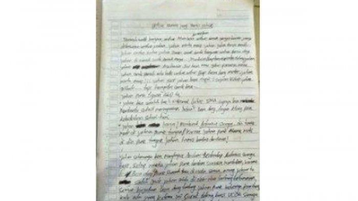 Sebelum Tewas Gantung Diri, Siswa SMP di Kota Kupang Tulis Surat Wasiat Berbau Balas Dendam