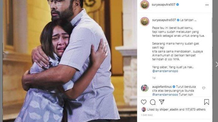 Surya Saputra berikan dukungan kuat pada Amanda Manopo melalui postingan Instgram pribadinya.