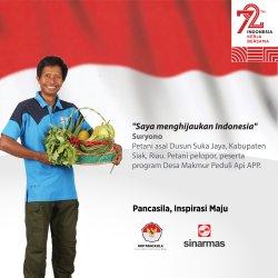 Suryono, Peraih Ikon Prestasi Indonesia UKP-Pancasila: Terimakasih Sinar Mas