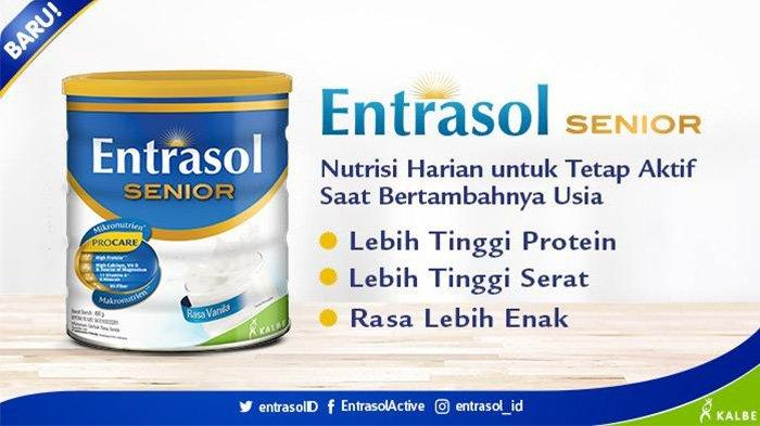 Susu untuk lansia Entrasol Senior.