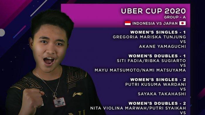 Susunan Pemain tim Indonesia vs Jepang di Uber Cup 2021