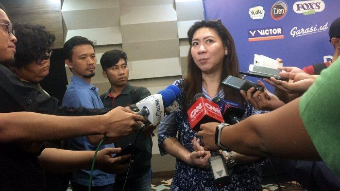 Kabidbinpres PBSI, Susy Susanti saat diwawancarai di kawasan Kelapa Gading, Jakarta Utara, Senin (17/12/2018).
