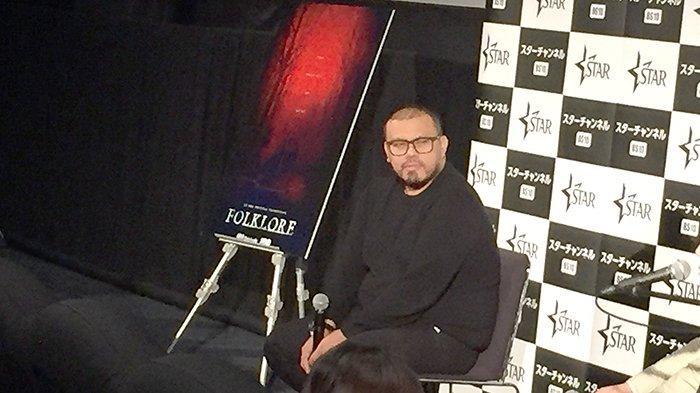 Sutradara Joko Anward (43) saat acara tanya jawab setelah penayangan filmnya Mother's Love di acara Tokyo International Film festival (TIFF), Sabtu (2/11/2019).