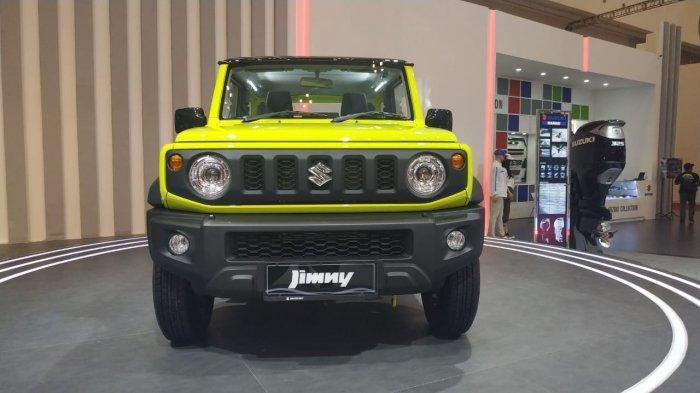 SUV kompak Suzuki Jimny terbaru yang diluncurkan di gelaran pameran otomotif Gaikindo Indonesia International Auto Show (GIIAS) 2019 di ICE BSD City, Tangerang.