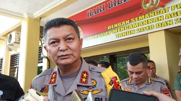 Kapolda Jateng Irjen Pol Rycko A Dahniel memberikan keterangan saat di Mapolresta Solo, Jalan Adi Sucipto, Kecamatan Banjarsari, Solo, Rabu (8/5/2019).