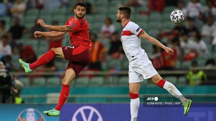 Hasil <a href='https://manado.tribunnews.com/tag/euro-2020' title='Euro2020'>Euro2020</a>: Swiss Menang 3-1 atas Turki, Shaqiri cs Buka Peluang ke 16 Besar