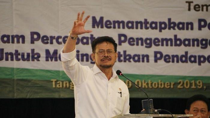 Mentan Syahrul Minta Penyuluh Dorong Gerakan Pembangunan Pertanian