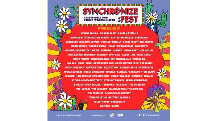 Synchronize Fest Mengumumkan 77 Nama Pada Fase ke-44