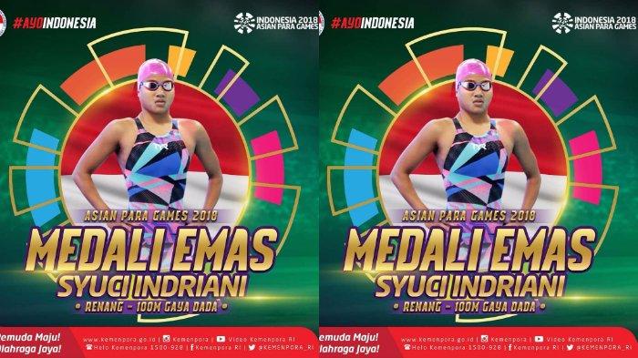 Tak Hanya Perunggu, Syuci Indriani juga Sumbang Emas untuk Indonesia di Asian Para Games 2018