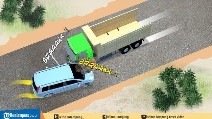 Sopir Mobil L300 dan Penumpangnya Tewas Usai Ditabrak Truk yang Alami Rem Blong