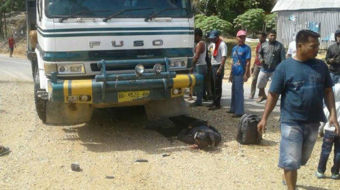 Sopir Truk Pengangkut Tepung Tewaskan Brigadir Polisi dan Keluarga Masih Kabur