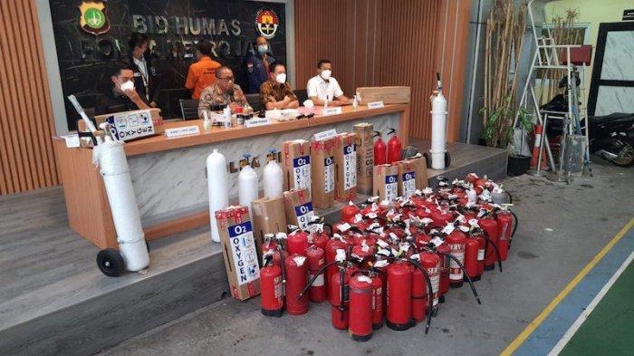 Polisi Tangkap Sarjana Pengangguran, Tabung Pemadam Dicat dan Dijual Jadi Tabung Oksigen Medis