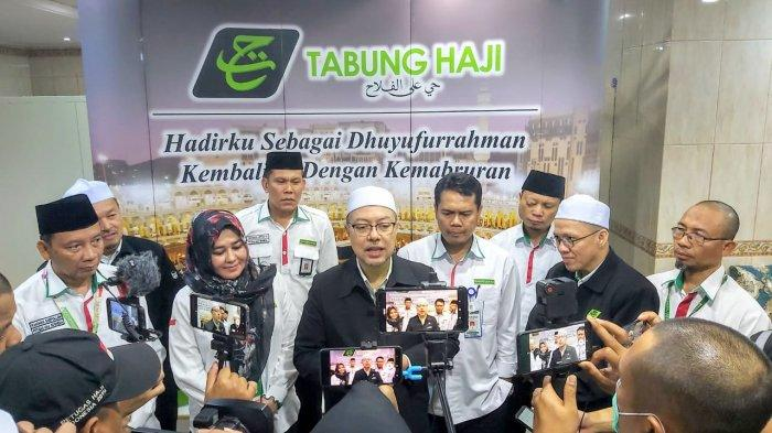 Pertemuan Tabung Haji Malaysia dengan Misi Haji Indonesia di Makkah, Selasa (20/8/2019). Otoritas pengendali perhajian kedua negara bertemua untuk bertukar informasi pengelolaan haji.