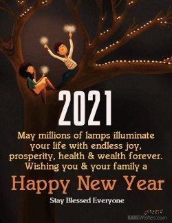 Ucapan Selamat Tahun Baru 2021.