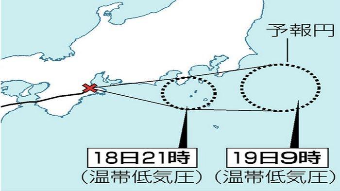 Taifun No.14 Mulai Menjauhi Pulau Honshu Jepang