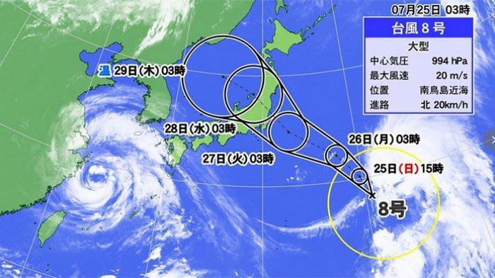 Taifun No.8 Diperkirakan Menerjang Tokyo Jepang 27 Juli 2021