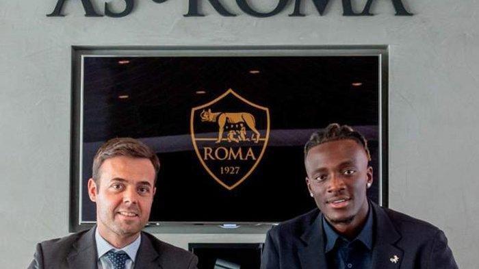 Tammy Abraham akan kenakan jersey nomor 9 setelah resmi menjadi pemain AS Roma dengan kontrak 5 tahun, Selasa (17/8/2021).