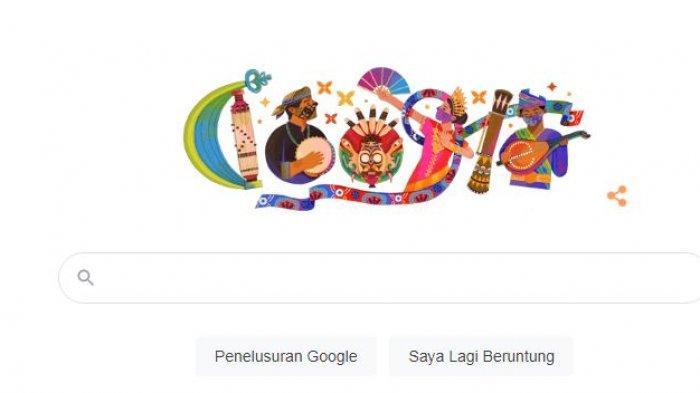 Tampilan Google Doodle 17 Agustus 2021.