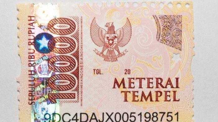 Tampilan meterai baru Rp 10.000