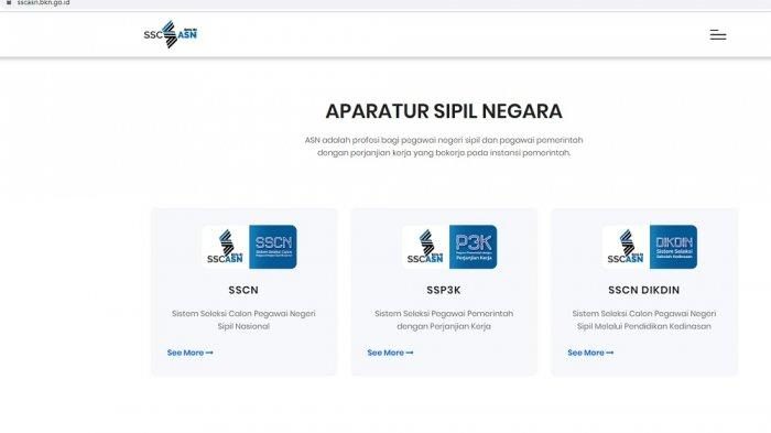 Tampilan portal sscasn.bkn.go.id (sscasn.bkn.go.id)