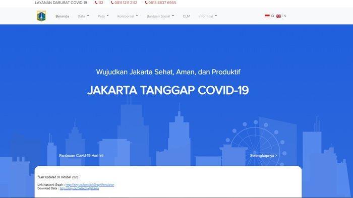 Lengkap dan Transparan, Situs Penanganan COVID-19 di DKI Jakarta