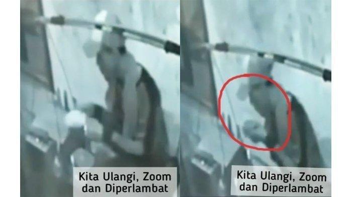 Tangakapan layar video rekaman CCTV, seorang pedagang bakso keliling diduga meludahi mangkuk bakso pembelinya, Senin (22/6/2020).