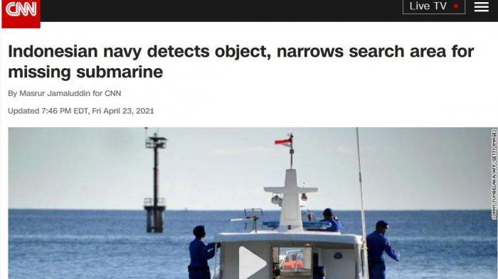 Media Asing: AL Indonesia Yakin Telah Mengidentifikasi Area Hilangnya Kapal Selam Nanggala-402