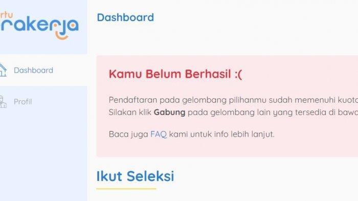 HASIL Seleksi Kartu Prakerja Gelombang 19 Sudah Diumumkan, Cek SMS atau www.prakerja.go.id