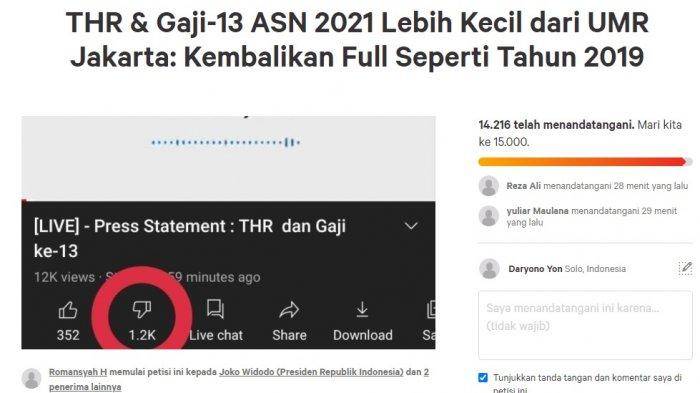 Sri Mulyani Dinilai Ingkar Janji, Muncul Petisi Online Tuntut THR 2021 PNS/TNI/Polri Dibayar Penuh