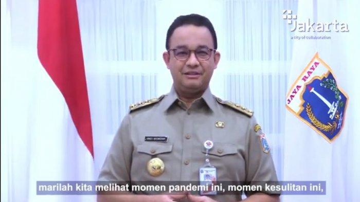 Tangkapan layar Gubernur DKI Jakarta Anies Baswedan saat menghadiri Perayaan Imlek 2572 Nasional