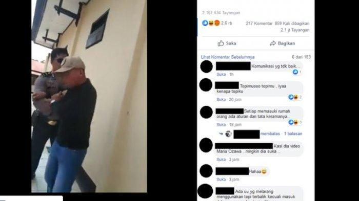 Viral Video Anggota Polisi Dorong seorang Warga, Bermula Masalah Topi Terbalik, Ini Penjelasannya