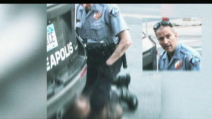 Tangkapan layar yang menampilkan wajah Derek Chauvin saat menginjak leher George Floyd dengan lututnya, pada Rabu (27/5/2020) di Minneapolis, Amerika Serikat. Chauvin dikenal sebagai polisi bermasalah, yang sudah 10 kali menjadi subyek pengaduan.