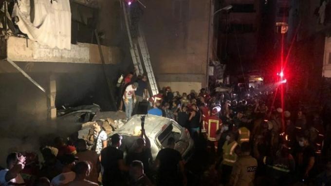 2 Bulan Pasca Ledakan, Beirut Lebanon Diguncang Ledakan Tangki Bahan Bakar, Menewaskan 4 Orang