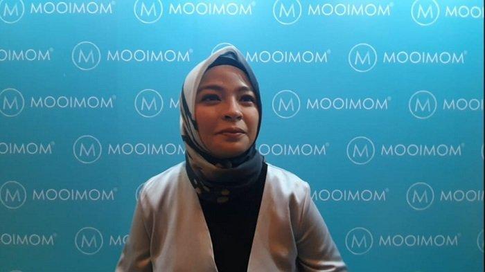 Tantri 'Kotak' saat ditemui di acara Mooimom di Jakarta Selatan, Senin (16/12/2019)