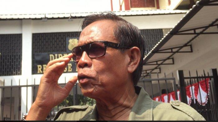 Komedian Tarzan di Ditres Narkoba Polda Metro Jaya, Jakarta Pusat, Senin (22/7/2019).