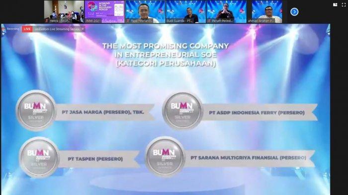 TASPEN Raih Penghargaan Silver Winner Di BUMN Marketeers Award 2021