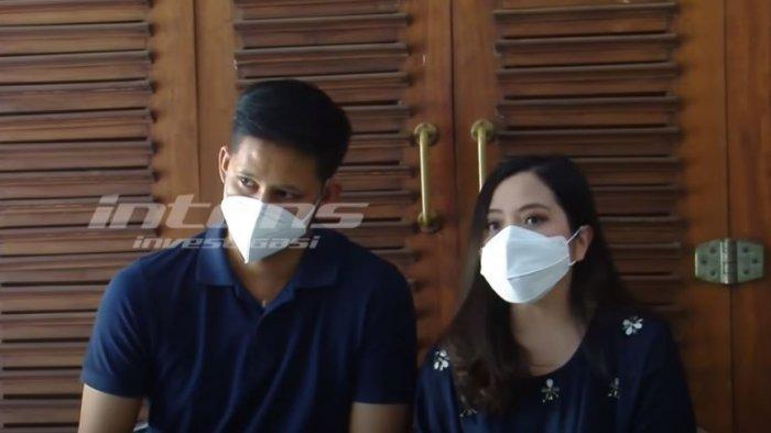 Tasya Kamila bersama dengan Randy Bachtiar saat ditemui oleh awk media