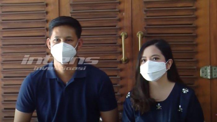 Tasya Kamila dan Randi Bachtiar saat dijumpai oleh awak media