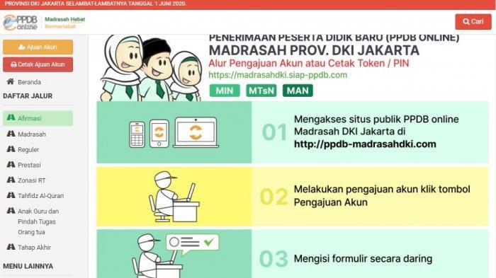 Tata Cara Pengajuan Akun PPDB Madrasah di DKI Jakarta 2021, Berikut Dokumen yang Harus Diunggah