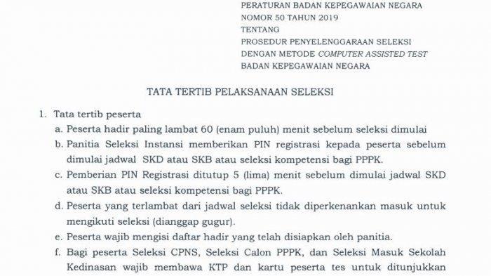 SKD CPNS 2019: Tata Tertib Tes SKD CPNS