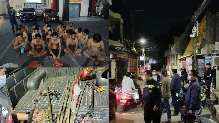 Polisi Amankan Bambu Runcing dan Bendera Merah Putih yang Dibawa 2 Kelompok yang akan Tawuran