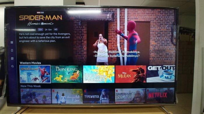 TCL A8 yang bisa memainkan Netflix.