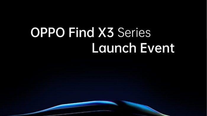 Teaser peluncuran Oppo Find X3 Pro.