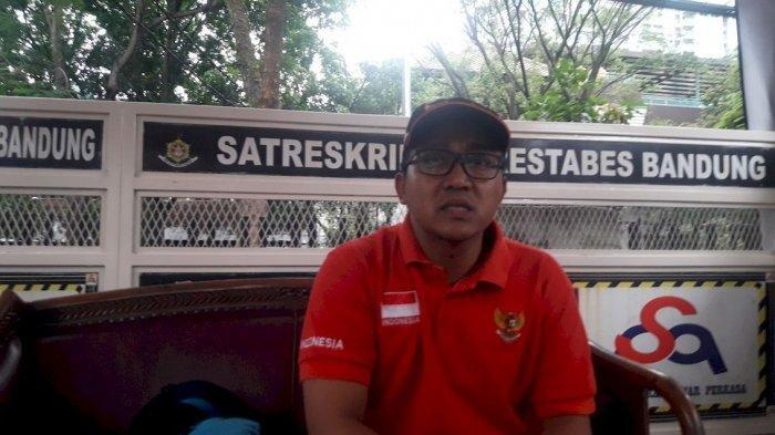 Teddy Pardiyana saat diwawancara Tribun Jabar, di Satreskrim Polrestabes Jabar, Sabtu (11/1/2020).