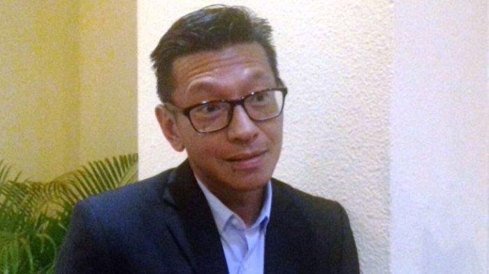 Direktur PT Persib Bandung Bermartabat (PT PBB), Teddy Tjahjono saat ditemui disela-sela acara Rapat Umum Pemegang Saham (RUPS) PT LIB di Hotel Sultan, Jakarta, Kamis (8/3/2018).