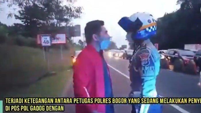 Pengendara asal Jakarta ini menolak diputar arah di Gadog dan mengaku sebagai asisten pribadi pejabat.