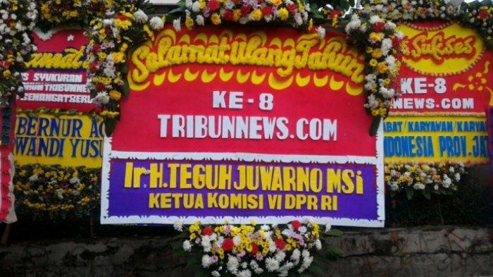 Ketua Komisi VI DPR Teguh Juwarno Ucapkan Selamat HUT ke-8 Tribunnews.com